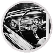 1965 Shelby Prototype Ford Mustang Steering Wheel Emblem Round Beach Towel