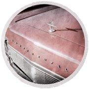 1967 Lincoln Continental Hood Ornament - Emblem Round Beach Towel