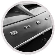 1968 Shelby Gt350 Hood Emblem Round Beach Towel