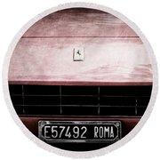 1972 Ferrari 365 Gtb-4a Grille Emblem Round Beach Towel