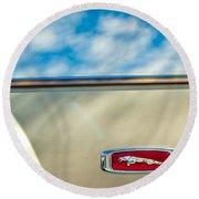 1995 Jaguar Emblem Round Beach Towel