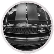 2008 Ford Shelby Mustang Gt500 Kr Painted Bw  Round Beach Towel