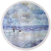 34th St. Beach Round Beach Towel