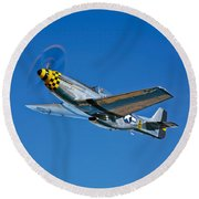A North American P-51d Mustang Round Beach Towel