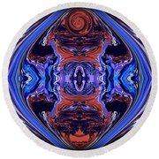 Abstract 110 Round Beach Towel