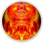 Abstract 70 Round Beach Towel