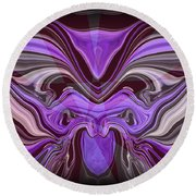 Abstract 77 Round Beach Towel