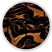 Abstract 81 Round Beach Towel
