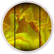 Abstract 99 Round Beach Towel