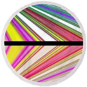 Abstract Fusion 221 Round Beach Towel