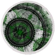Abstract Mechanical Fractal Round Beach Towel by Martin Capek
