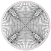 Abstract Structural Construction Round Beach Towel