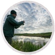Adventures In Aniakchak, Ak Round Beach Towel