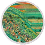 Agate Microworlds 2 Round Beach Towel