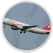 Air Arabia Maroc Airbus A320 Round Beach Towel