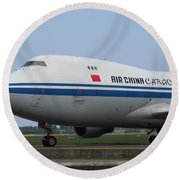 Air China Cargo Boeing 747 Round Beach Towel
