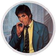 Al Pacino 2 Round Beach Towel by Paul Meijering