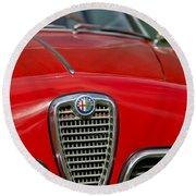 Alfa Romeo Grille Emblem Round Beach Towel
