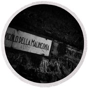 Alley Of Melancholy. Iseo Round Beach Towel
