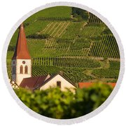 Alsace Church Round Beach Towel