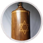 Ancient Torah Scrolls From Yemen  Round Beach Towel