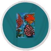 Art Fish Round Beach Towel