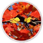 Autumn Leaves Round Beach Towel