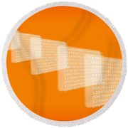 Background Numbers Round Beach Towel