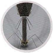 Bacteriophage Round Beach Towel