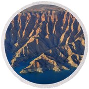 Bad Lands Round Beach Towel