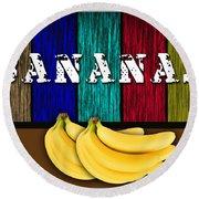 Bananas Round Beach Towel