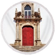 Baroque Portal Round Beach Towel