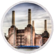 Battersea Power Station London Round Beach Towel