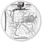 Battle Of Saratoga, 1777 Round Beach Towel
