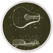 Bicycle And Motorcycle Seat 1925 Patent Round Beach Towel
