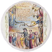 Blake: Songs Of Innocence Round Beach Towel