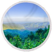 Blue Ridge Parkway National Park Sunset Scenic Mountains Summer  Round Beach Towel