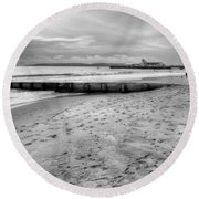 Bournemouth Beach Round Beach Towel