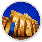Brandenburg Gate Berlin Germany Round Beach Towel