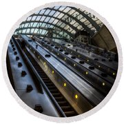 Canary Wharf Station Round Beach Towel