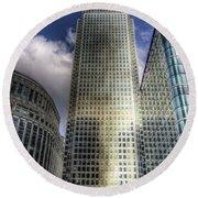 Canary Wharf Tower London Round Beach Towel