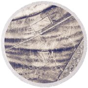 Canvas Round Beach Towel