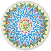 Colorful Signature Art Chakra Round Mandala By Navinjoshi At Fineartamerica.com Rare Fineart Images  Round Beach Towel