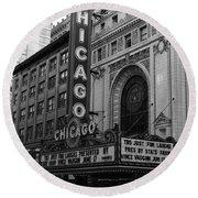 Chicago Theater Round Beach Towel