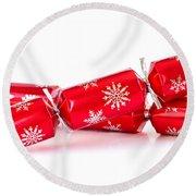 Christmas Crackers Round Beach Towel