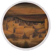 Cliff Palace Round Beach Towel