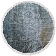 Close-up Of A Metal Wall Surface Round Beach Towel