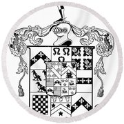 Coat Of Arms Round Beach Towel