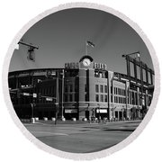 Coors Field - Colorado Rockies Round Beach Towel by Frank Romeo