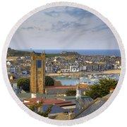 Cornwall - St Ives Round Beach Towel